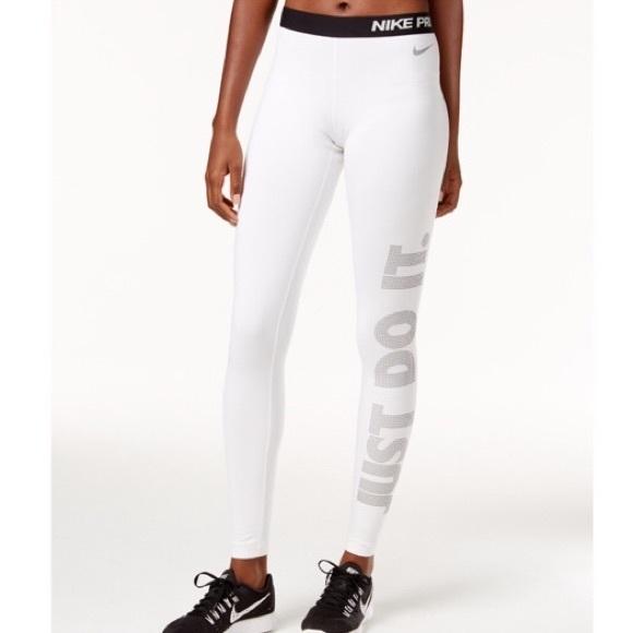 cae049252eabe Nike Pants | Womens White Pro Fleece Lined Leggings M | Poshmark